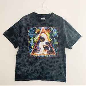 Def Leppard Reverse Tie Dyed Band Tee
